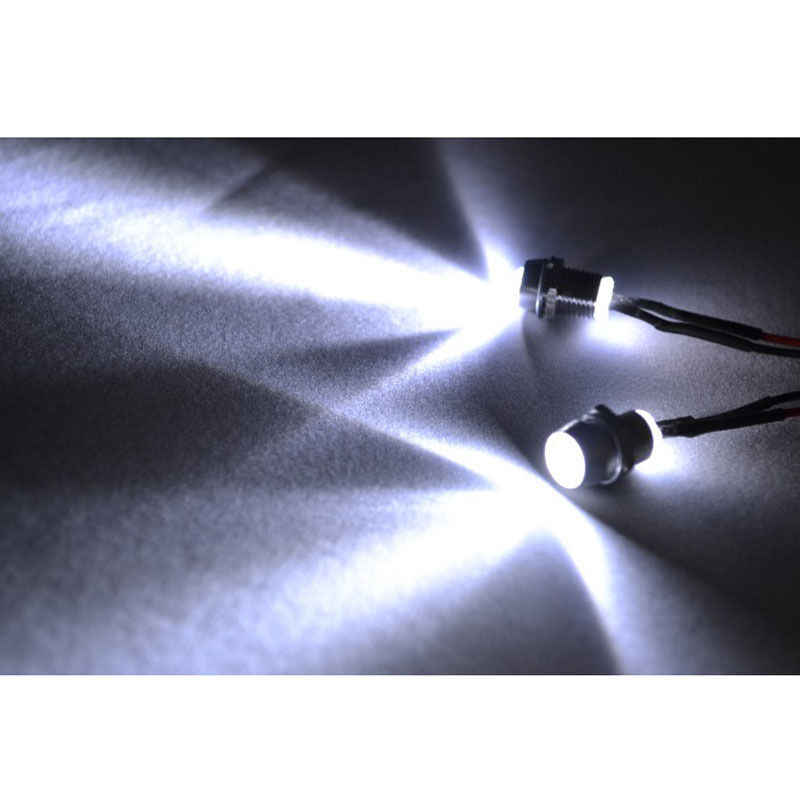 Modelo RC Drift coche LED noche 2 pc 5mm faros blancos faros 2 luz LED