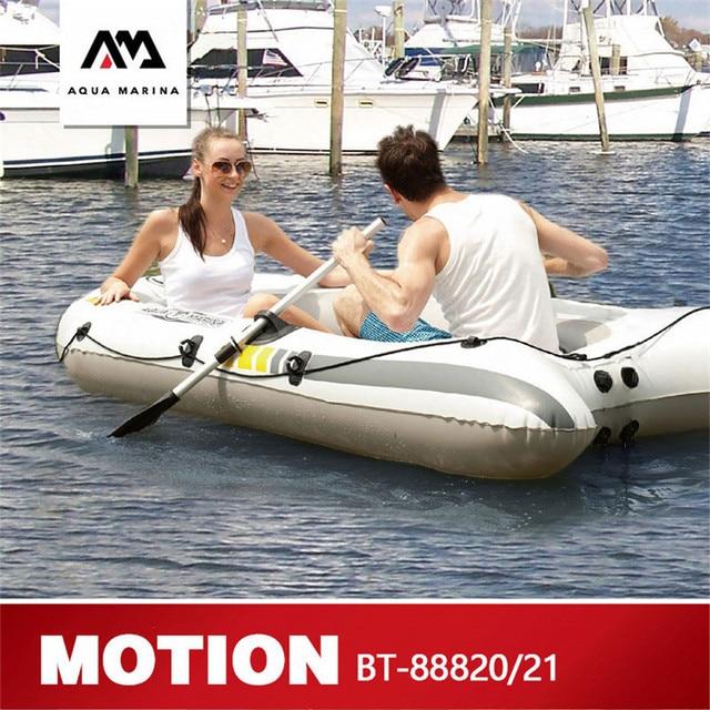 AQUA MARINA HAREKET Yeni Spor Kayık şişme bot Balıkçılık şişme bot Ile 2 Kişilik Kürek Kalın PVC tekne Kürek Ile