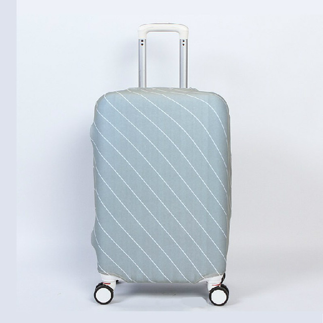 Travel Accessories Elastic Luggage Cover Cover Suitcase Protective Travel Case Cover Dust-Proof Striped Pattern Solid Color Luggage Covers