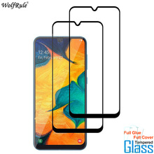 2Pcs For Glass Samsung Galaxy A30 Screen Protector Full Glue Cover Tempered Glas