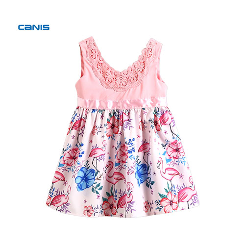 Baby Girls Kid Child Flower Sleeveless Dress Party Bridesmaid Wedding Dress Sundress Baby Girls Summer Dress New