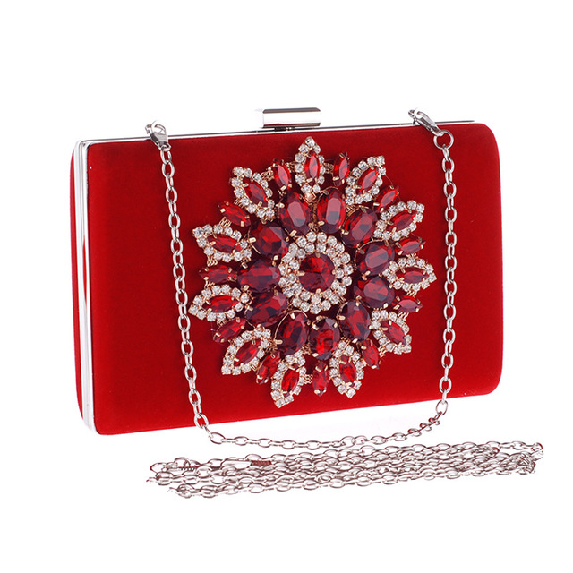 Handmade Crystal Chian Bead Evening Clutch Bags Purse Prom Wedding Women Bag Beg Shanel bolsa feminina aj sac a main LI-1138
