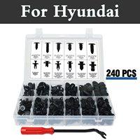 240x Push Push Pin Rivet Clips Push Type Set Case Rivets For Hyundai Santa Fe Solaris Sonata Terracan Tiburon Tucson