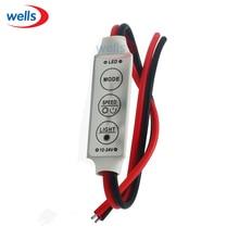 цена на 20pcs DC 12V Mini 3 Keys Dimmer Controller For Single Color 5050 3528 Led Light Strip