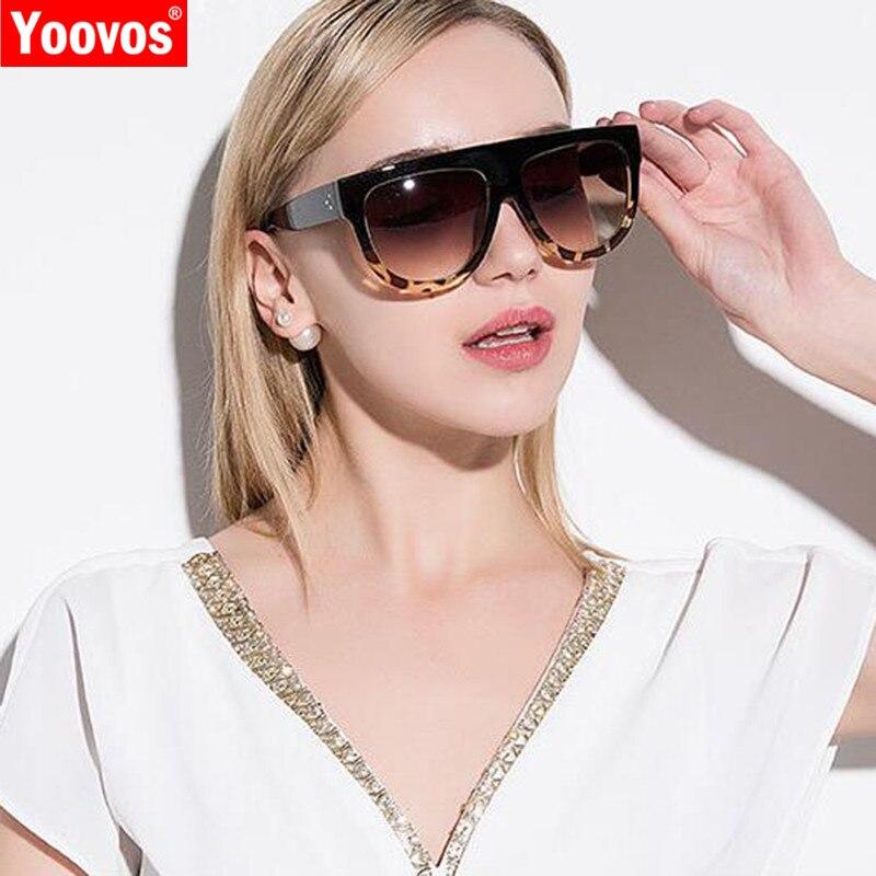 Yoovos 2019 retro óculos de sol feminino quadrado marca de grandes dimensões designer uv400 gradiente óculos de sol vintage lunette soleil femme