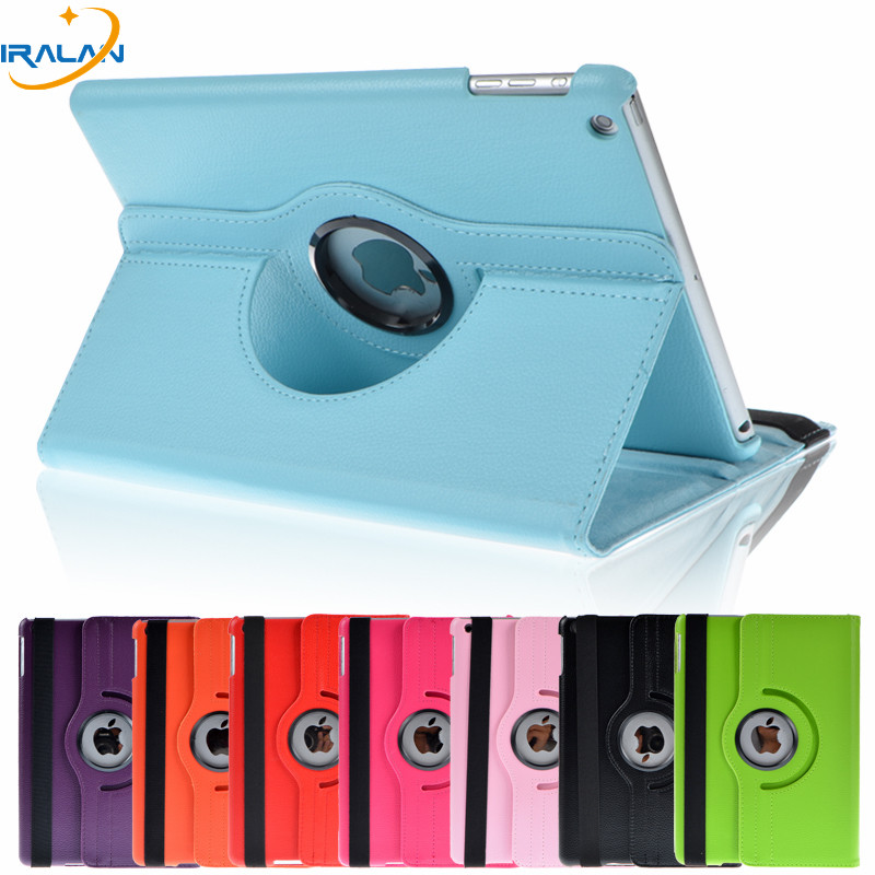 2018 hot Wholesale 360 Rotation PU Leather case for Apple iPad Air 1 Smart stand cover for ipad 5 cases with function +film +pen the girl in blue