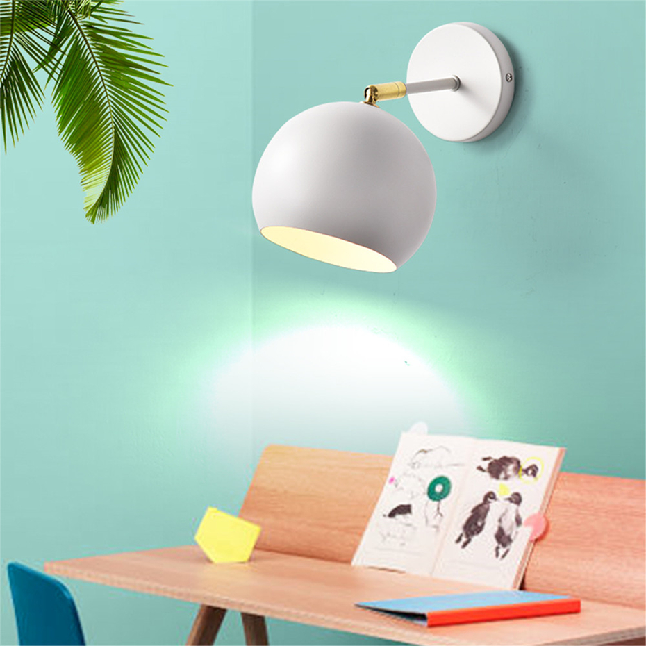 Nordic Adjule Led Wall Lamp For Bedroom Reading Sconce Bedside Luminaira Modern E27 Mounted Lighting Fixtures