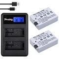 2 Unids 1800 mAh LP-E8 LP E8 LPE8 Cámara Batería Batería Batterie Akku + lcd usb cargador doble para canon eos 550d 600d 650d 700D