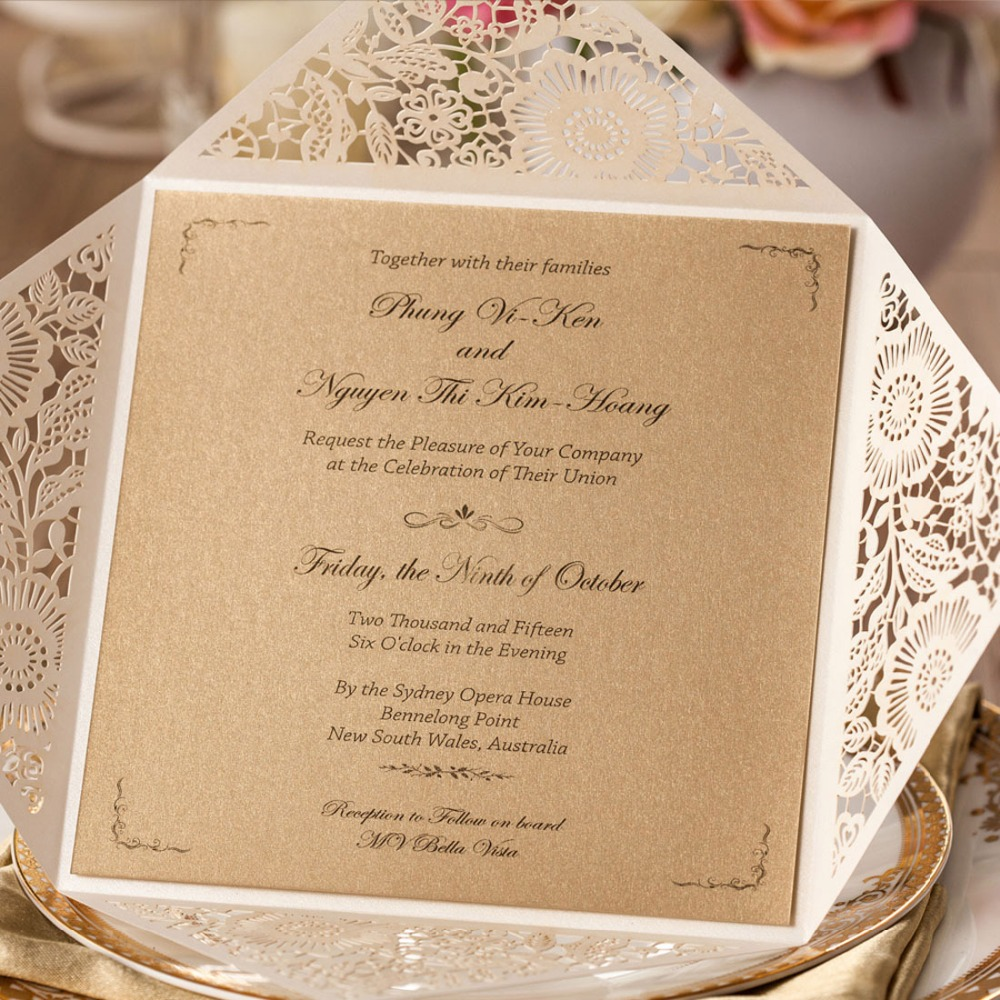 Beach Themed Wedding Invitation Sets
