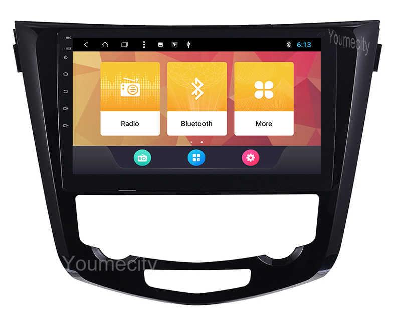 الروبوت رئيس وحدة سيارة ستيريو لنيسان قاشقاي X-تريل 2014 2015 2016 2017 راديو تلقائي RDS GPS والملاحة الصوت الفيديو لا DVD