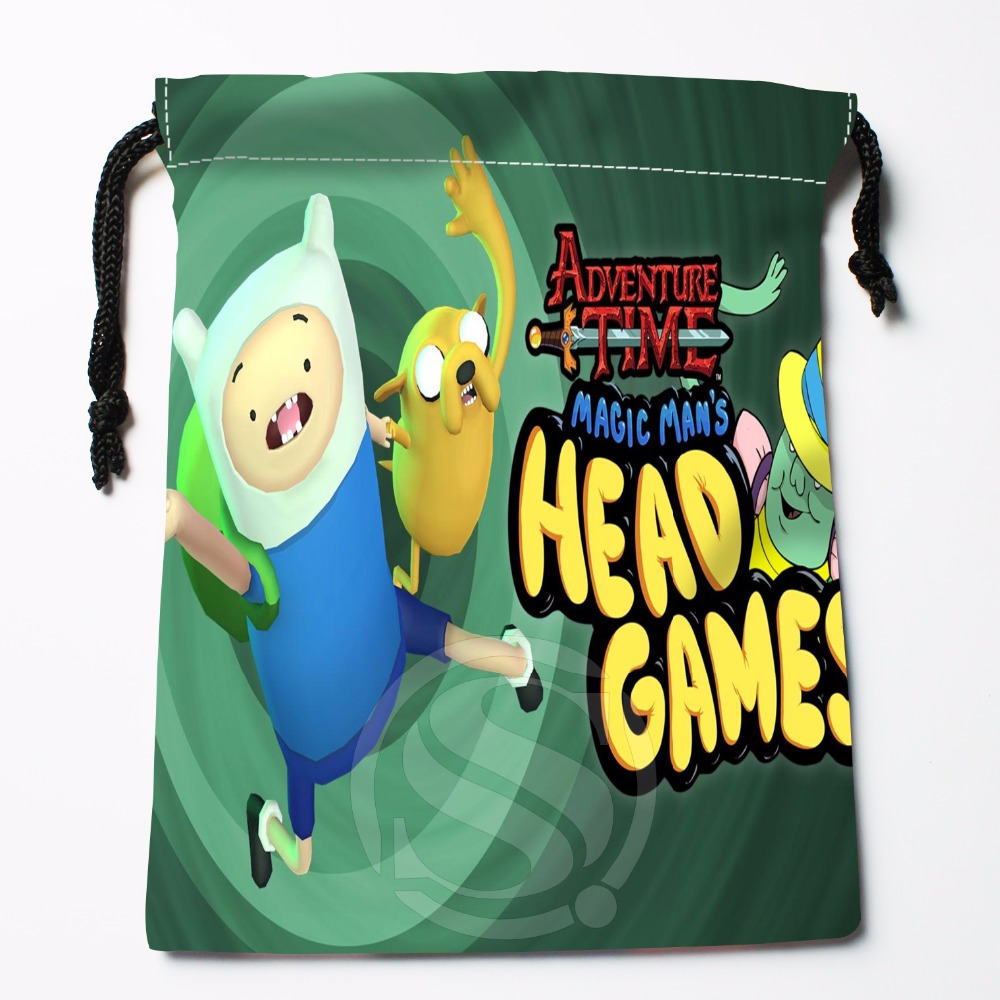 Fl-Q150 New adventure time &11 Custom Printed receive bag Bag Compression Type drawstring bags size 18X22cm 711-#Fl150