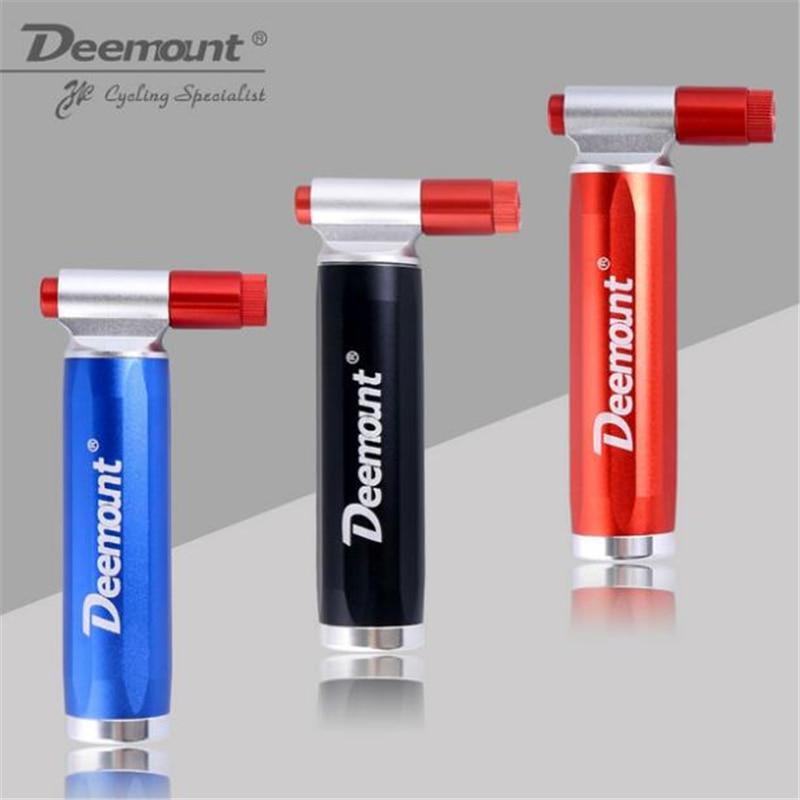 Deemount Bicycle CO2 Pump for 16 Gram Non Threaded Cartridge Bike Tire Ball Portable Inflator Dual Head Presta Schrader Valve