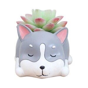 Image 4 - Lovely Corgi Dog Shaped Plant Decor Succulent Plants Decorative Flower  succulent can small plant pots planter wall