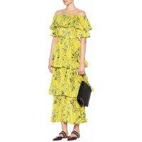 2018 New Arrive Women Yellow Long Dress