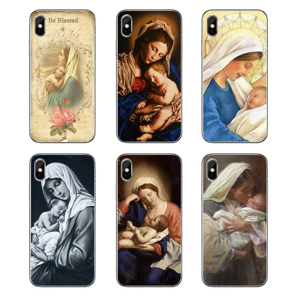 For Samsung Galaxy A5 A6 A7 A8 A9 J4 J5 J7 J8 2017 2018 Plus Prime TPU Case Covers Virgin Mary Christian Christmas Jesus Pattern