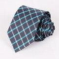 Estilo britânico Ternos Jacquard Gravata Dos Homens Estreitas Gravatás Magro Vestidos Cravats Poliéster Clássico Xadrez Laços Para Casamento