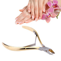 Ali hotsale Nail Clippers Stainless Steel Dead Skin Remover Scissor Foot Care Toe Cuticle Nippers Manicure Nails Art Tool HS