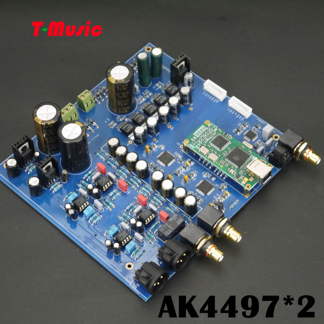 US $183 34 5% OFF|TOP Audio DAC Dual AK4497 DAC Decoder board Support XMOS  / Amanero I2S USB Input / XLR balanced Output-in Digital-to-Analog