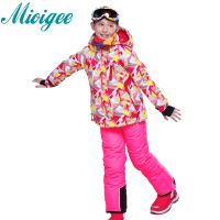 Mioigee 2017 Children S Ski Suits Baby Girls Outdoor Hooded Jackets Bandage Pants 2pcs Sets Kids