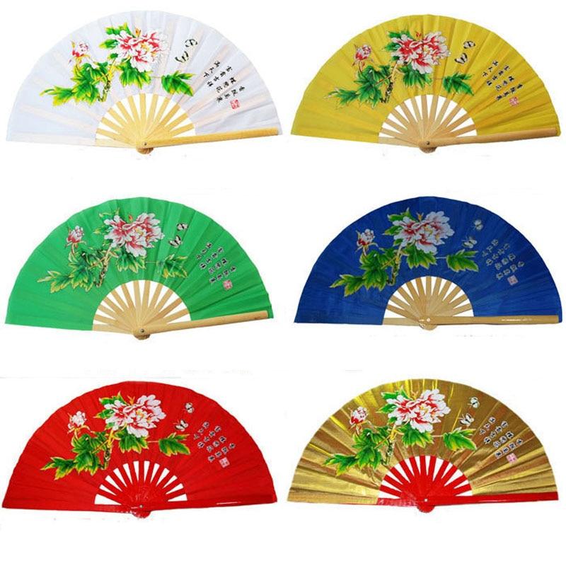 Фитнес Тай чи вентилятор боевых искусств рубашки Кунг Фу тайчи тайцзи выступления два драконы поклонников 6 цветов