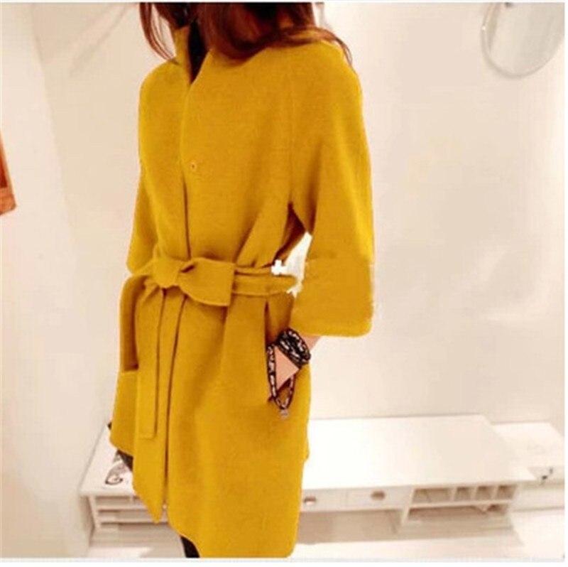 Woolen Ourwear Spring Ladies Woolen Coat autumn collar and ...