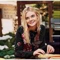 EXCELENTE CALIDAD de La Más Nueva Manera 2017 Otoño Invierno Diseñador Suéter de Las Mujeres Impresionantes Aves Bordado de Diamantes de Cuentas Suéter