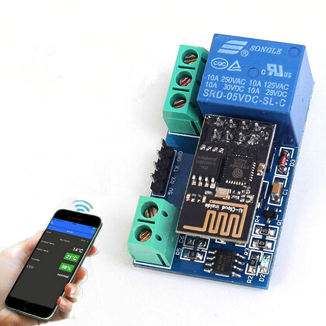 buy esp8266 5v wifi relay module remote control switch phone app for smart home. Black Bedroom Furniture Sets. Home Design Ideas