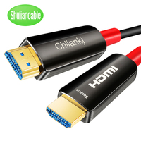 Shuliancable HDMI 2.0 Cable 4K 60Hz Fiber Optic HDMI Cable 2.0 HDR for HD TV Box Projector PS4 cable hdmi 5m 10m 15m 20m 30m 50m