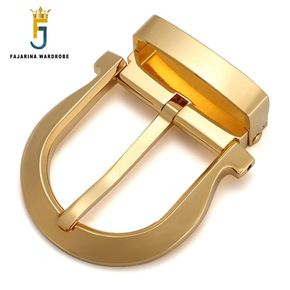 FAJARINA New Arrival Unique Design Sliver & Gold Solid Brass Buckle Only for 33mm Width Belt Fashion Perfect Belt Fittings BK009
