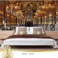 מדבקות מותאמות אישית אירופאי ארמון פרסקו אמנות תמונה גדולה ציורי קיר טפט רקע ספת טלוויזיה hd 3d חדר שינה נייר עיצוב בית