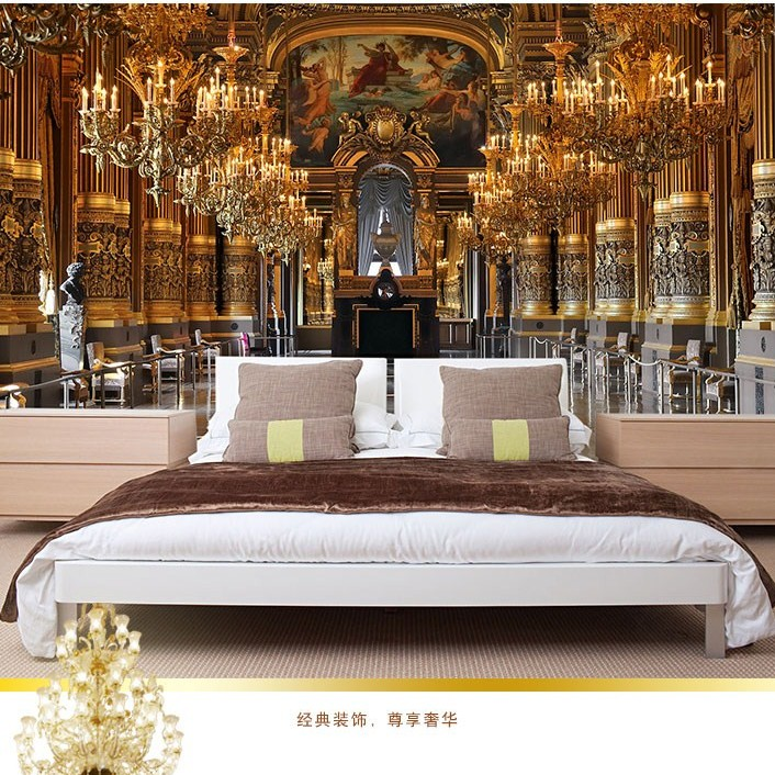 European palace custom stickers art photo fresco bedroom hd tv sofa background wallpaper 3d large murals wall paper home decor exclaim колье серебряное с жемчужиной