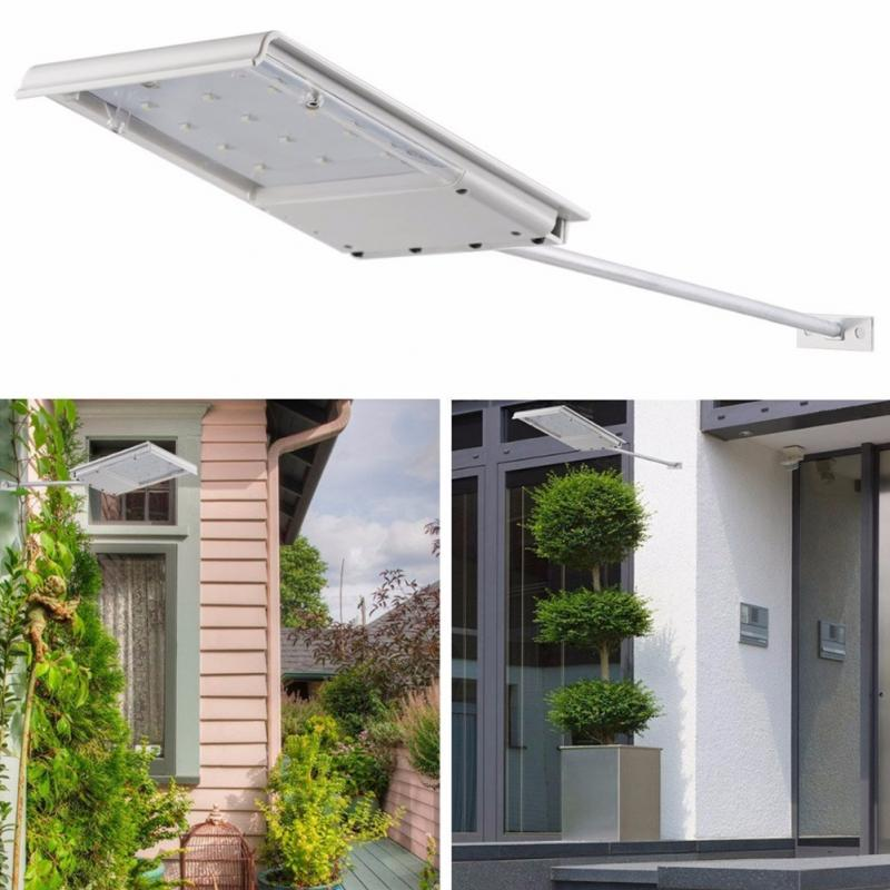 Solar Powered 15 Led Street Light Solar Lamp Sensor Light Outdoor Lighting Garden Path Spot Light Wall Emergency Lamp
