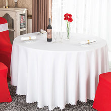 Hot 1PC Wit/Zwart/Rood Solid Plain Polyester Tafelkleed Ronde Voor Hotel Banket Wedding Party Decoratie Restaurant tafelkleed(China)