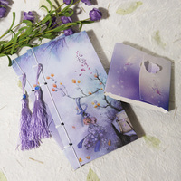 5pcs Lot Cute Chinese Style Notebook Vintage Purple Flower Notepad Journal Diary Gift Stationery Office School