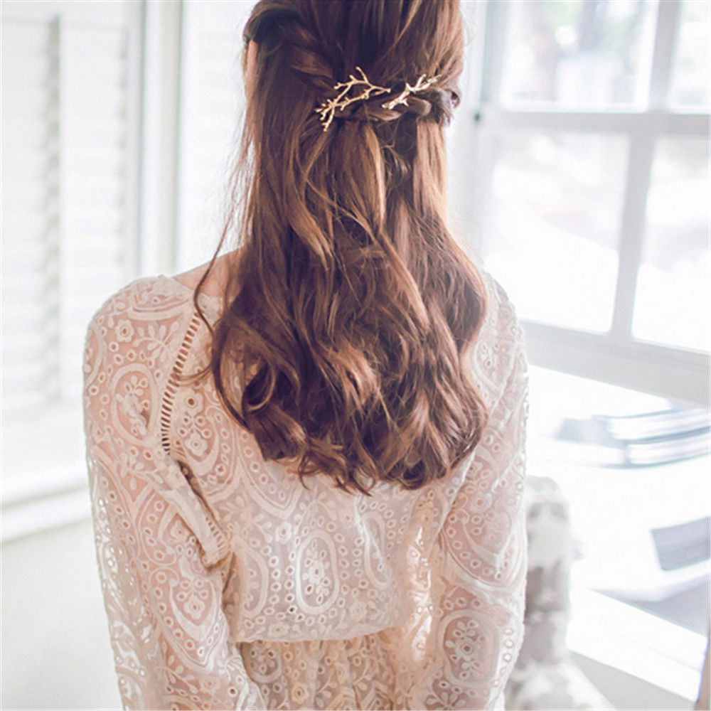 Women Hairpins Vintage Metal Tree Branches hair clips for Girls hair accessories retro vintage women ladies girls hair clips crystal butterfly bowknot hairpins hair accessories