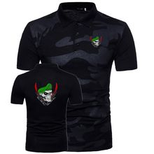 539b4250144da4 Camisas dos homens do Polo 2018 Masculina Manga Curta Casual Magro camiseta  Camuflagem EUA boina verde