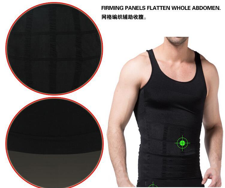 100PCS Men Slimming Body Shaper Belly Fatty Underwear Vest Shirt Corset Compression shapewear Cincher Underbust Corset