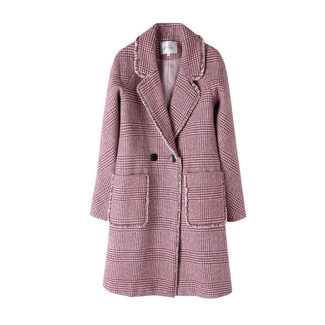 Top Women Fashion Autumn 2018 Plus Size Turn Down Collar Winrwe South Tassel Clothing Fall OL Red Womens Coats