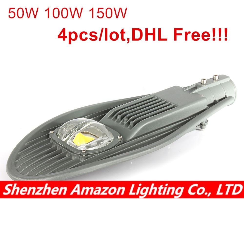 4pcs 50W 100W 150W Led Street Light IP65 Waterproof Outdoor Lighting For Graden Lamp Park Road Yard Light LED COB Lamp