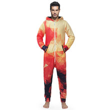 Hotsale 3D Print Gradient Plaid Jumpsuit Rompers for Men Male Over Size Long Sleeve Onesies Winter Spring Hoodies Pants Sets(China)
