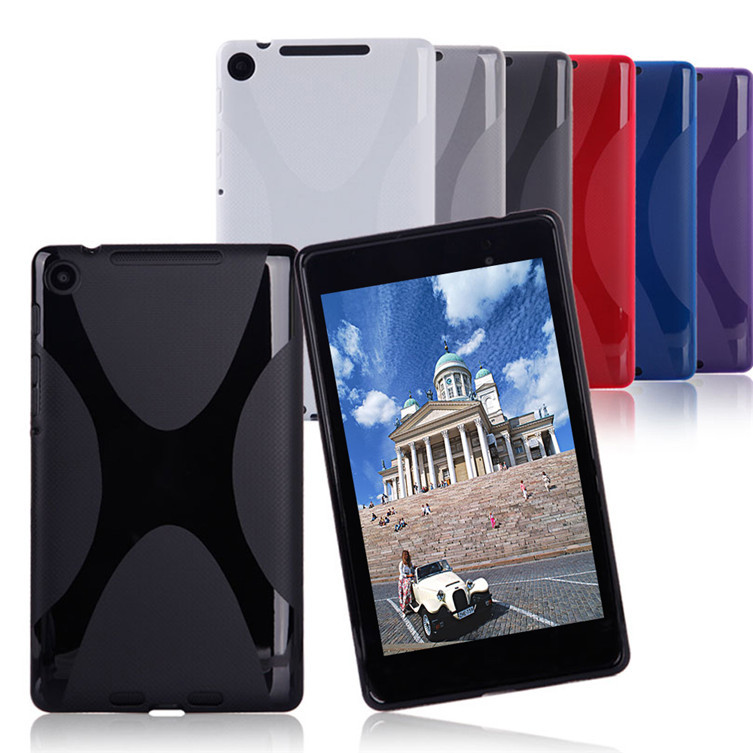 1 Piece X-Line TPU Gel Soft Color Back Protective Slim Funda Cover Case For 2013 Google Nexus 7 Capa 2ND Generation
