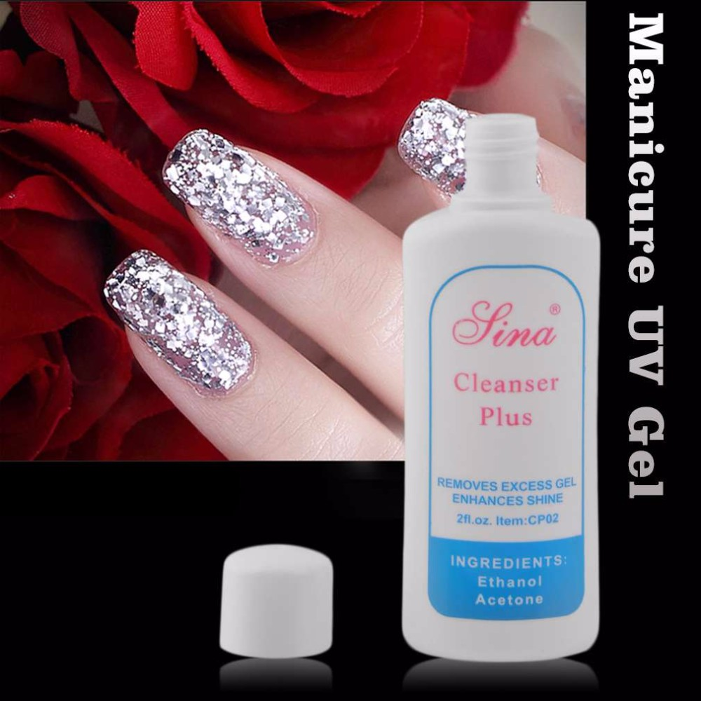 3 Bottles UV Gel Cleanser Professional Nail Art Polish Glue Personal ...