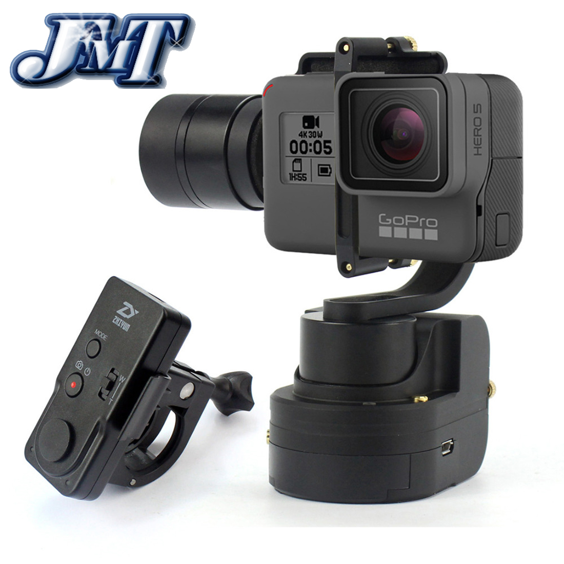 JMT Zhiyun Z1-Rider M Gimbal WG Stabilizer for GoPro Hero 5 4 Yi 4k Plus SJ CAM Support APP Wearable with Remote Tripod Bag
