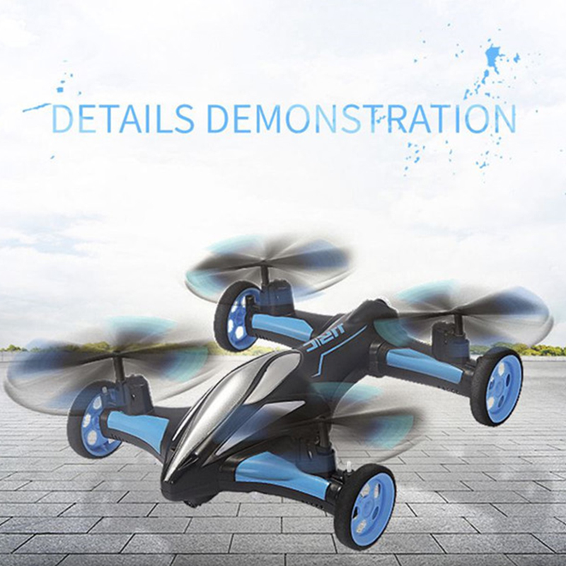 JJRC H23 2.4G 4CH 6-Axis Gyro Air-Ground Flying Car One Key Return RC Drone Quadcopter with 3D Flip Headless Mode RC hobby toy drone with camera h5c 2 4ghz 6 axis wth gyro rc quadcopter one key return headless mode rc aircraft rtf helicopter toy kid gifts