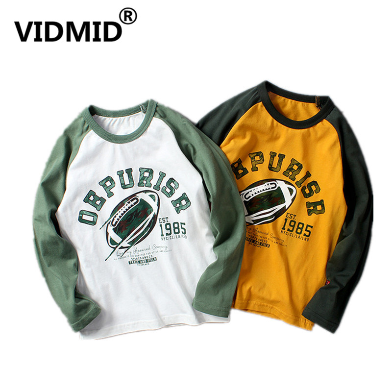 VIDMID T-Shirts Kids Long-Sleeve Tops Tees Baby Boys Cotton Children Cartoon Brand 4102