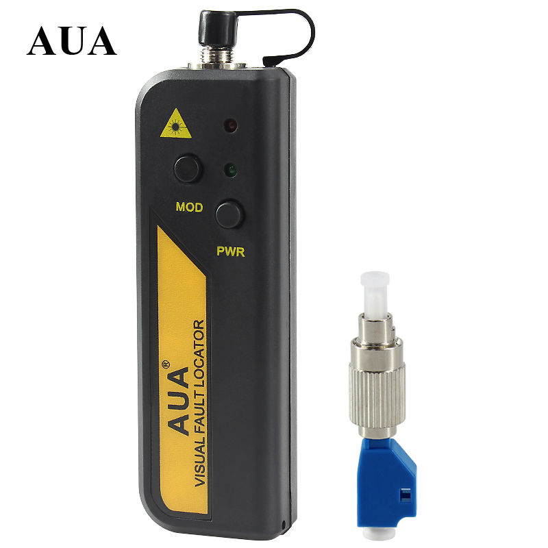 AUA wholesale price 10mw Red Laser Light Fiber Optic Cable Tester LC SC FC ST Connector
