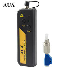 AUA wholesale price 10mw Red Laser Light Fiber Optic Cable Tester LC/SC/FC/ST Connector Cable Laser Optical Fiber Tester 10KM