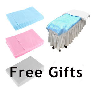 Image 5 - 속눈썹 확장 플란넬 및 pu matrial 베개에 대 한 베개 beayty 살롱 lahes 메이크업 일회용 침대 시트 선물로