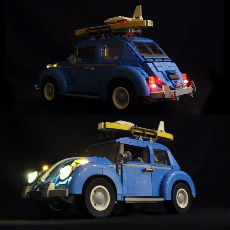 LED Light Kit ONLY For Lego 10252 Volkswagen Beetle Model Lighting Bricks 21003