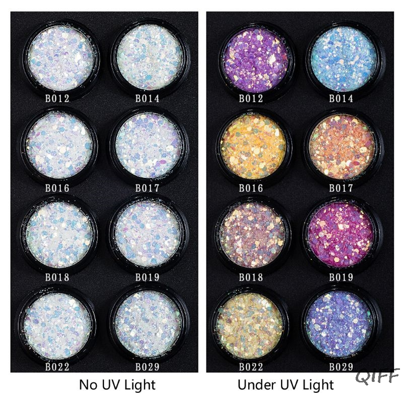 UV Color Change Mica Powder Sunlight Reactive Sequain Glitter Resin Jewelry DIY